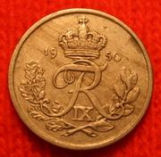 монета Дании 1950г.