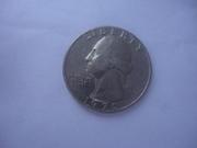 Продається Монета Liberty Quarter Dollar (d) 1970 перевертиш !